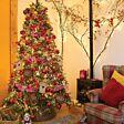 9cm  Copper Acorns Christmas Tree Decoration