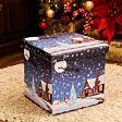38cm x 38cm Foldable Santa and Sleigh Christmas Storage Box