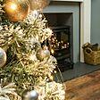 2.5m Christmas Tree Silver Firefly Multi Strand Branch Lights, 300 Warm White LEDs