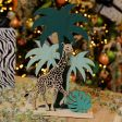 30cm Laser Cut Giraffe With Tree Table Top Decoration