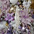 20cm White Pearlescent Glass Drop Christmas Tree Bauble