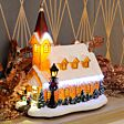 29cm Battery Church Christmas LED Village Scene