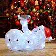 38cm Battery Operated Acrylic Snowman Figure