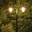 Solar Filament Effect LED Twin Head Security Lamp Post, 2.1m