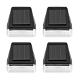 Solar Fence Wall Light, 4 Pack