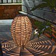 31cm Solar Rattan Style Hanging Lantern