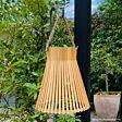 25cm Solar Hanging Bamboo Lantern