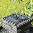 Solar Neapolitan Tiered LED Water Feature