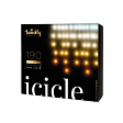 5m Smart App Controlled Twinkly Christmas Icicle Lights, Gold Edition - Gen II