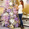 14cm Lilac Ombre Acrylic Snowflake Christmas Tree Decoration