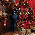 28cm Red Metal Bell Table Top Christmas Tree