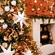 40cm x 57cm Natural Willow Christmas Tree Skirt