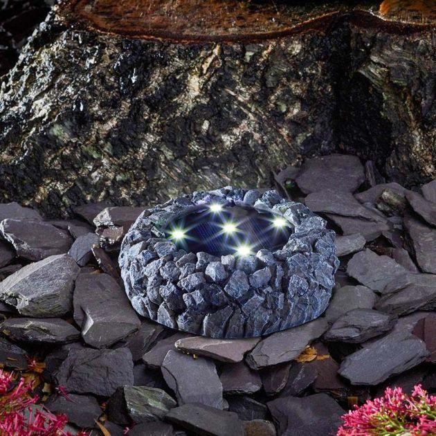 Solar Rock Ground Up Light