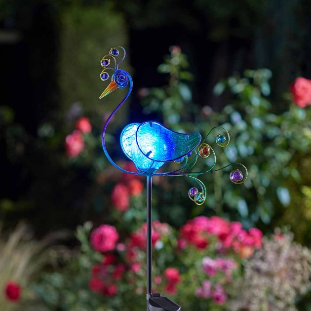 Solar Peacock Stake Light