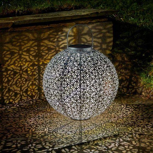 Solar Damasque Lantern, 34cm