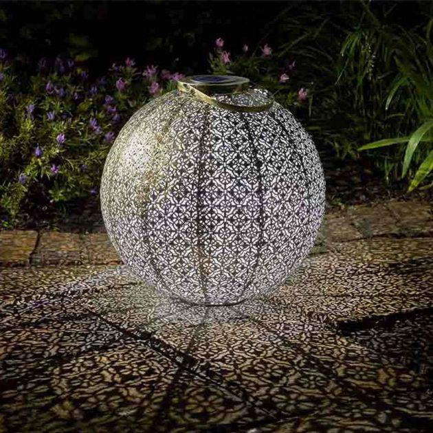 Solar Damasque Lantern, 41cm