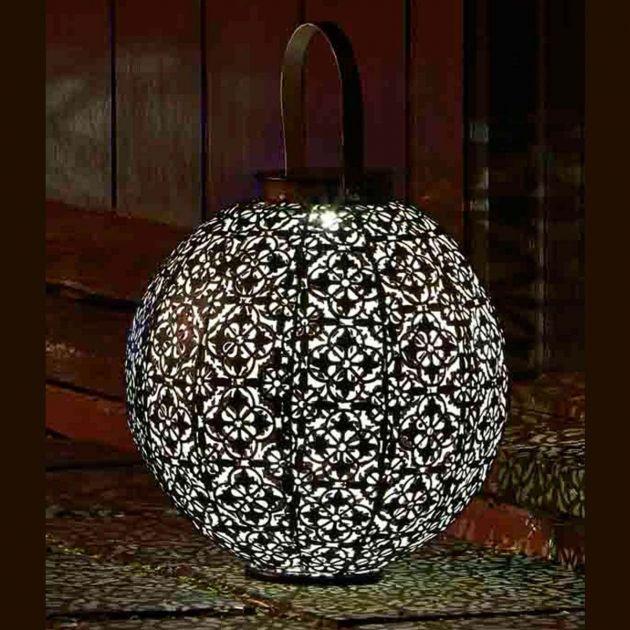 Solar Damasque Lantern, 23cm