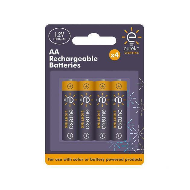 Rechargeable AA Batteries, 4 Pack