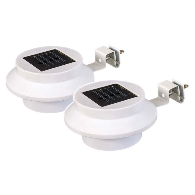Solar Fence Gutter Light, 2 Pack