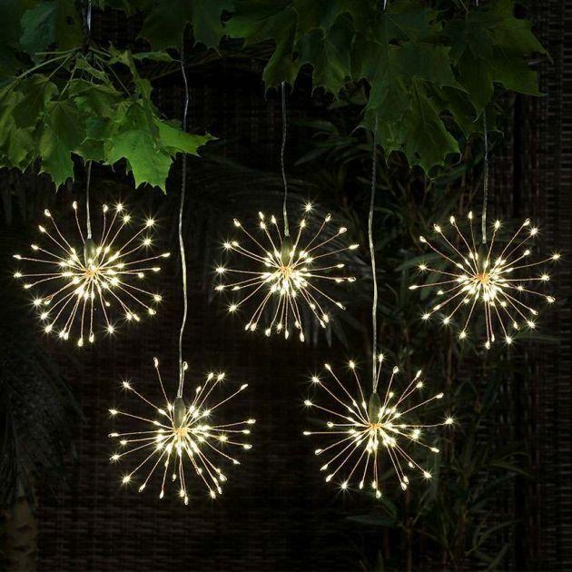 5 Outdoor Battery Firefly Starburst Hanging Light