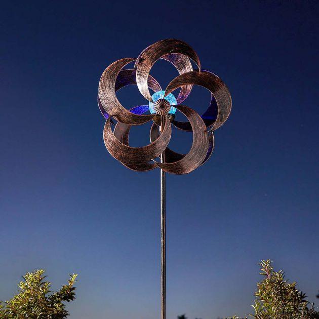 Solar Aries Wind Spinner Stake Light