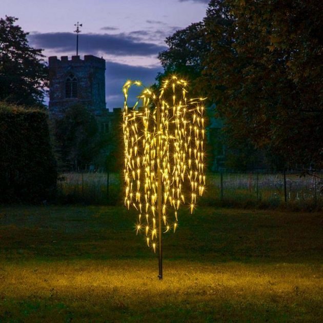 1.8m Outdoor Plug In Willow Tree, 300 Warm White LEDs