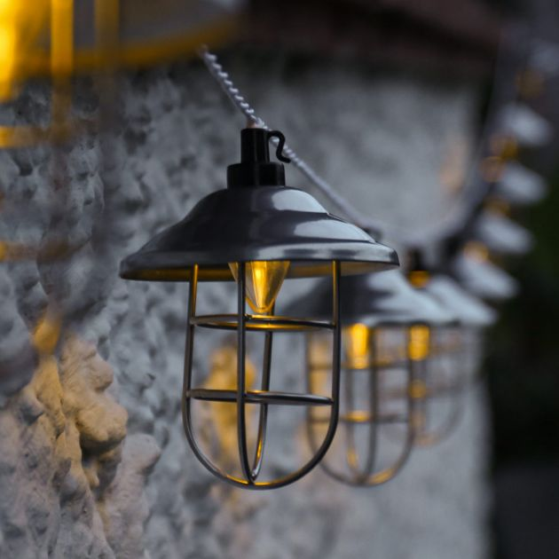 Solar Metal Lantern Fairy Lights