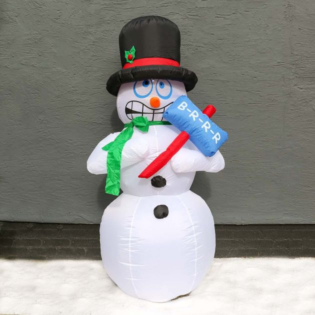 1.8m Animated Shivering Snowman Inflatable LED Figure