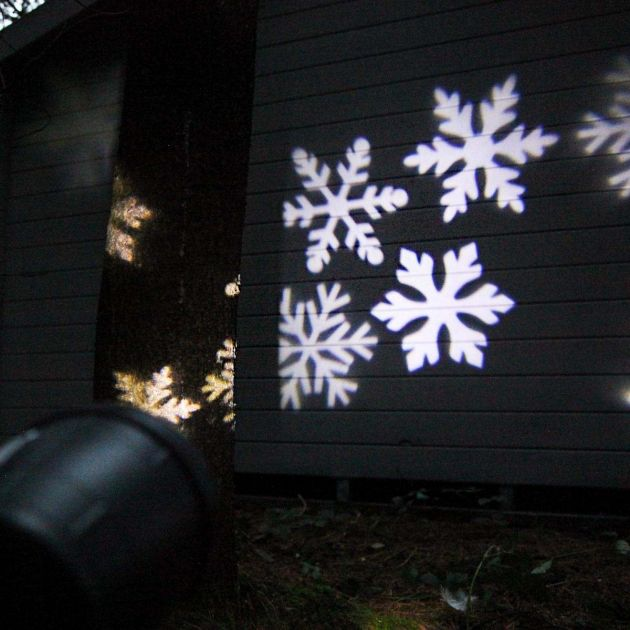 Outdoor Christmas Snowflake Projector, White LEDs