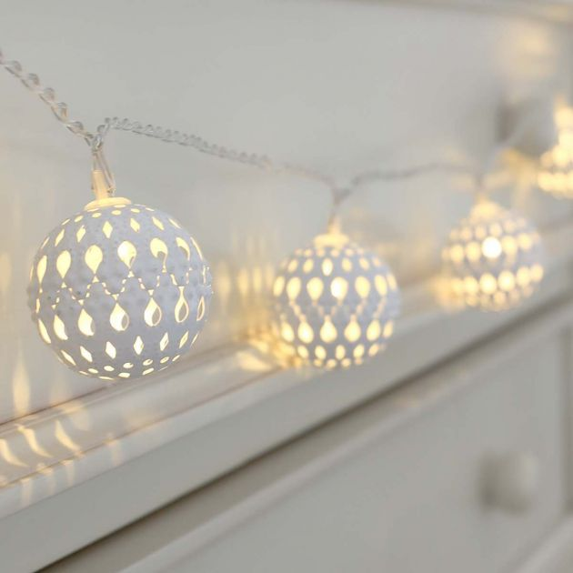 White Battery Moroccan Fairy Lights