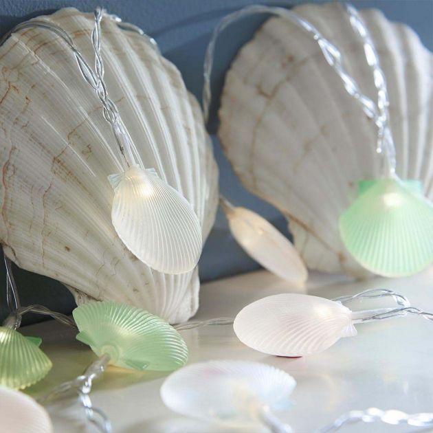 Battery Pastel Sea Shell Indoor Fairy Lights