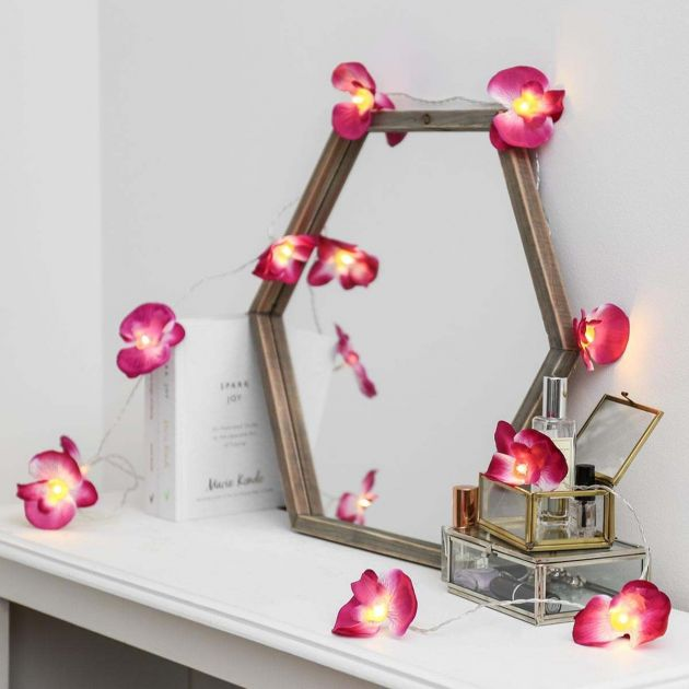 Battery Orchid Flower Indoor Fairy Lights, 1.8m