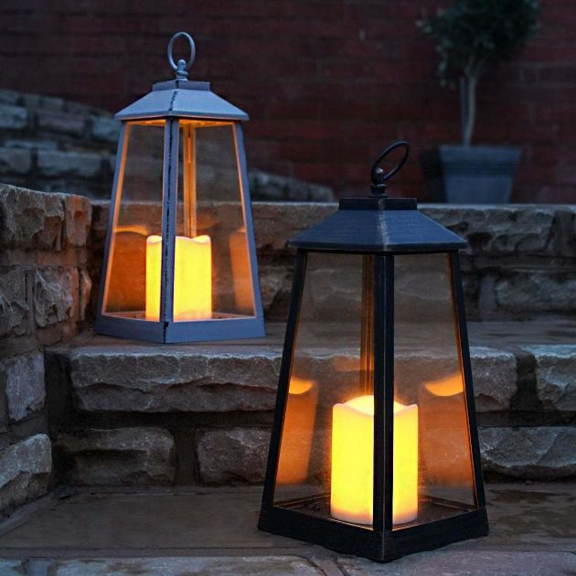 Outdoor Battery Flickering Candle Lantern