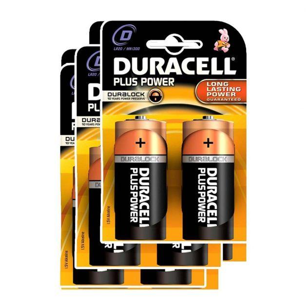 Duracell Alkaline Batteries - D (Type) Pack of 6