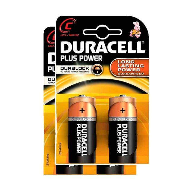 Duracell Alkaline Batteries - C (Type) Pack of 4
