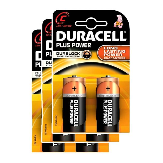 Duracell Alkaline Batteries - C (Type) Pack of 6