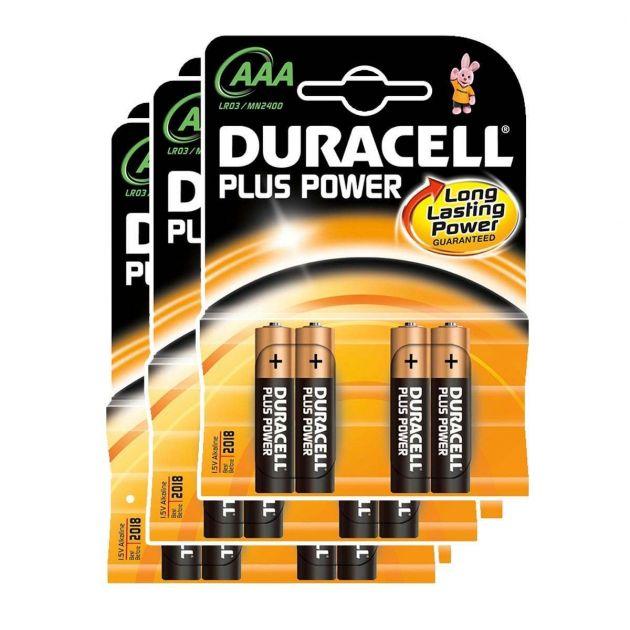 Duracell Alkaline Batteries - AAA Pack of 12