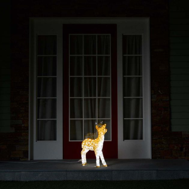 60cm Outdoor Baby Reindeer Figure, 560 White LEDs