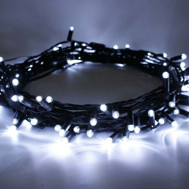 Outdoor String Lights, Connectable, Black Rubber Cable
