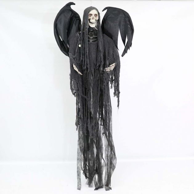 Halloween Battery Animated Standing Reaper with Light and Sound, 2m