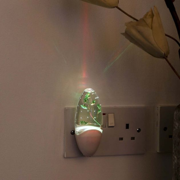Plug In Nature Night Light with Light Sensor, Colour Changing LEDs