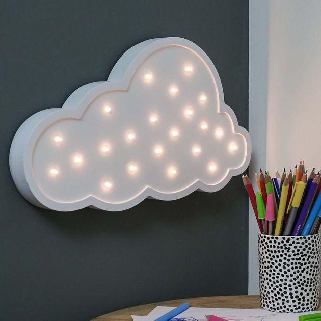 Wooden 'Cloud' Battery Light Up Circus Letter, Warm White LEDs, 35cm