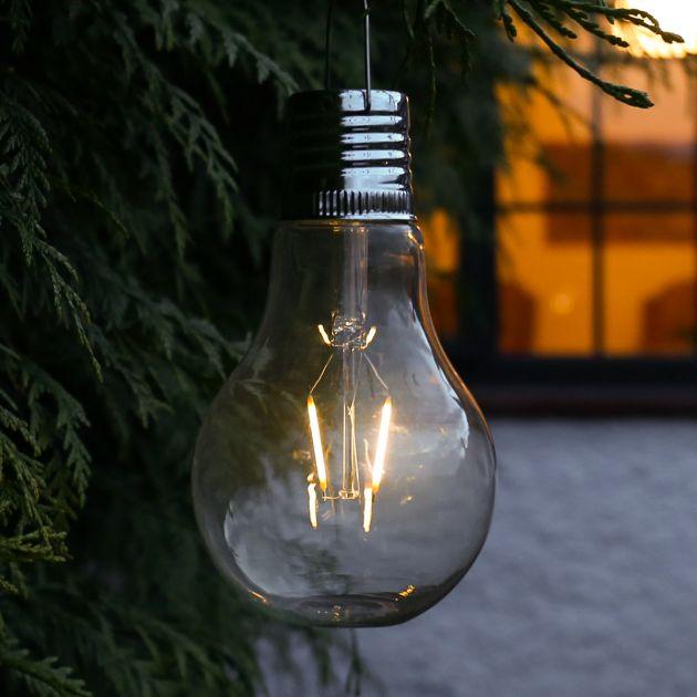 Solar Filament Effect Hanging Glass Festoon Bulb