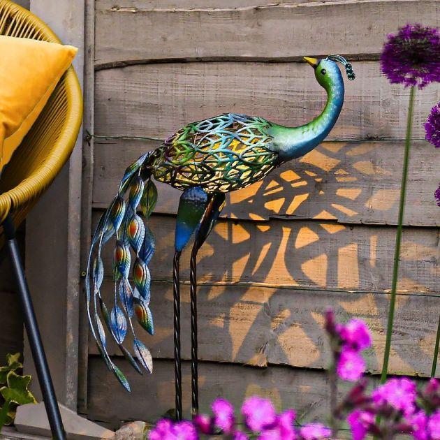 Solar Novelty Peacock Light