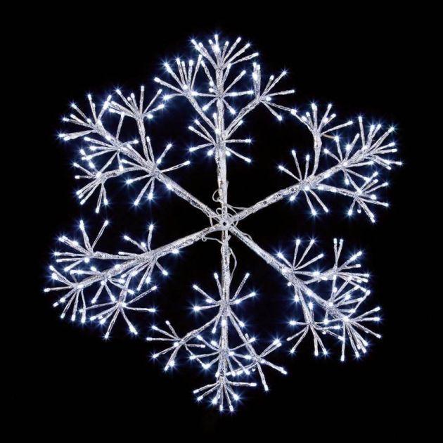 90cm Starburst Snowflake Christmas Silhouette, 660 White LEDs
