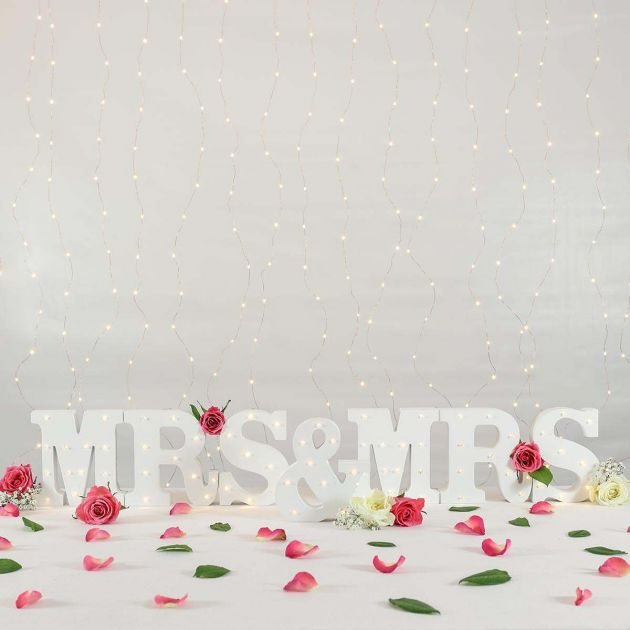 Mrs & Mrs Battery Light Up Circus Letters, Warm White LEDs