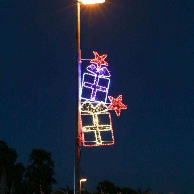 1.5m Aluminium Outdoor Rope Light Christmas Presents Motif