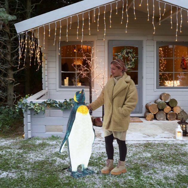 1.2m Outdoor Male Penguin Figure, 1520 White LEDs