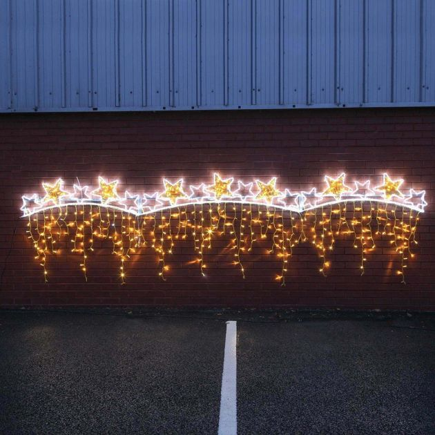 5m Aluminium Outdoor Rope Light Christmas Star Commercial Motif, Twinkle LEDs