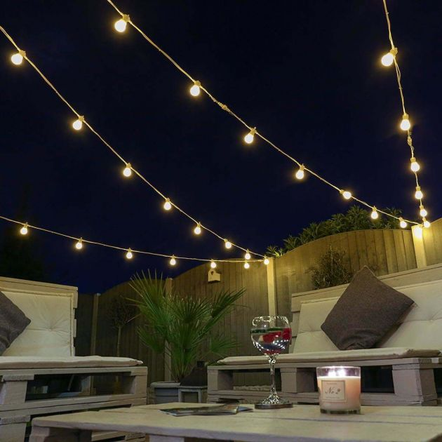 Festoon Lights, Connectable, Warm White SMD LEDs, Frosted Bulbs, Rubber Cable